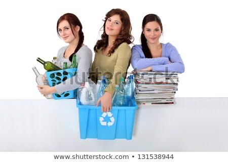 three girlfriends waste sorting Stock photo © photography33