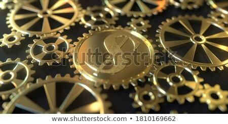 Stok fotoğraf: Dolar · altın · simge · Metal · yalıtılmış
