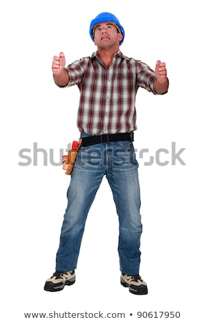 Laborer gripping an imaginary ladder Stock photo © photography33