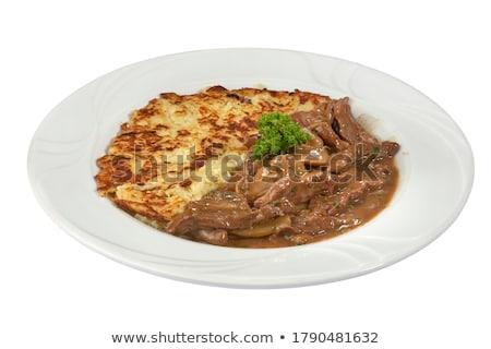 Carne cogumelo molho jantar refeição Foto stock © M-studio