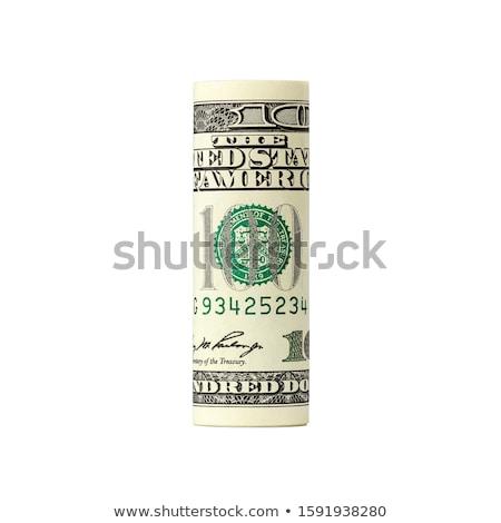 dolar · rulo · bir · ABD · doğal · yeşil - stok fotoğraf © tony4urban