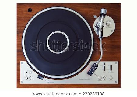 kar · lemezjátszó · közelkép · lemez · játszik · zene - stock fotó © backyardproductions