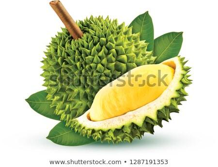 Yalıtılmış beyaz gıda doğa meyve yeşil Stok fotoğraf © Witthaya