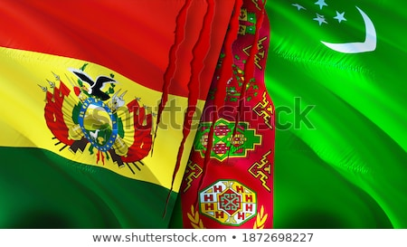 Politikai integet zászló Türkmenisztán világ vidék Stock fotó © perysty