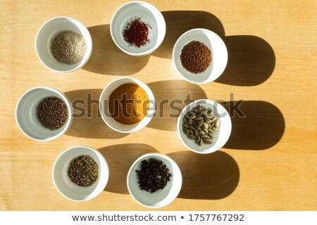 Arrangement Spice naar beneden te kijken specerijen gebruikt ayurveda Stockfoto © TheFull360