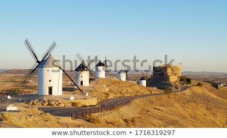 Windmills in Consuegra, Spain. Stock photo © asturianu
