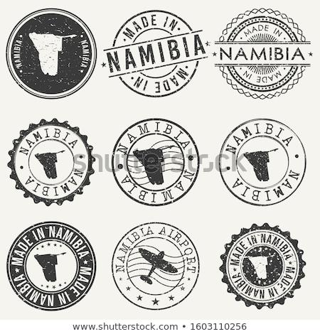почты Намибия изображение штампа карта флаг Сток-фото © perysty