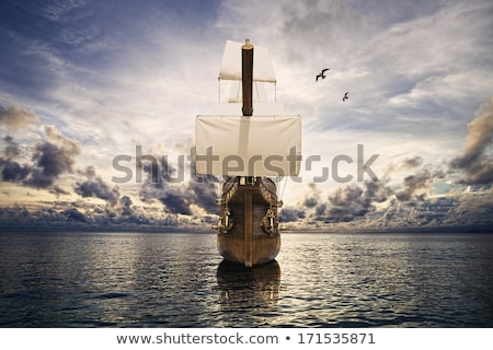 cielo · barca · nave · e · corde - foto d'archivio © taiga