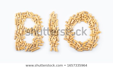 word bio made of wood pellets Stock photo © jirkaejc