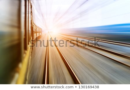 Train Speeding through Countryside Stock photo © suerob