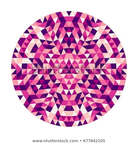 Colorful kaleidoscopic abstract circular pattern. Stock photo © latent