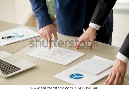 építkezés terv tervez könyvvizsgálat kéz épület Stock fotó © johnkwan