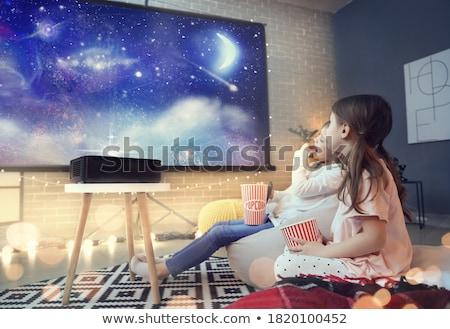Home cinema abstract vector kunst illustratie televisie Stockfoto © robertosch