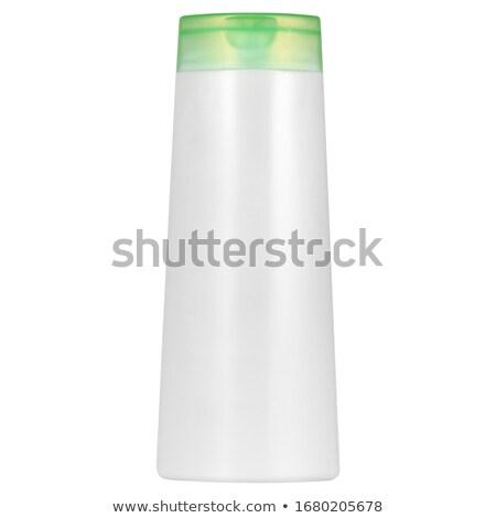Plastica shampoo bottiglia bianco arancione care Foto d'archivio © shutswis