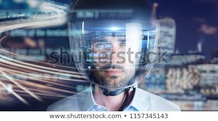 Stockfoto: Robot Riding Motorcycle