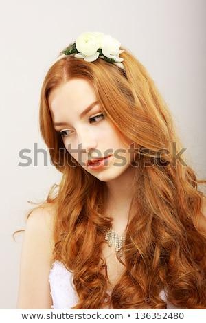 Zdjęcia stock: Dreams Gentle Meek Young Woman Dreaming Imagination