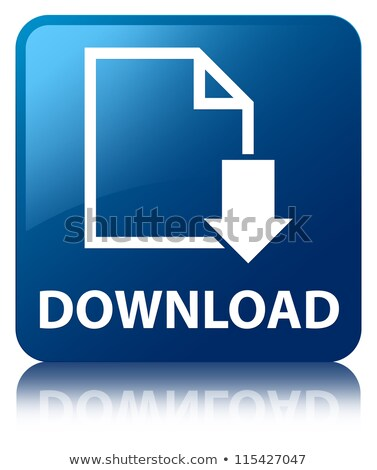 Download icon glossy blue reflected square button stock photo © faysalfarhan
