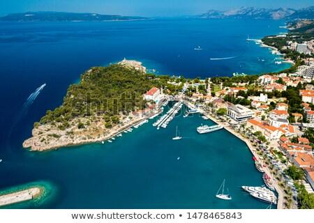 makarska city,croatia Stock photo © mikdam