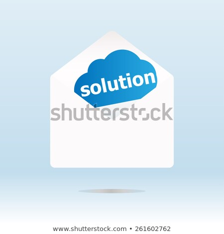 cloud solution word on blue cloud, mail envelope Stock photo © fotoscool