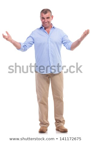 casual middle aged man welcoming you Stock photo © feedough