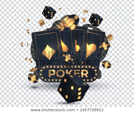 3D poker club symbole isolé blanche Photo stock © 123dartist
