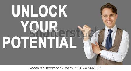 Siker zárat kinyit hazárdjáték egy esély képesség Stock fotó © AlphaBaby