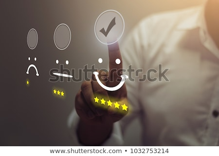 excellente · service · clients · évaluation · main · vérifier - photo stock © ivelin