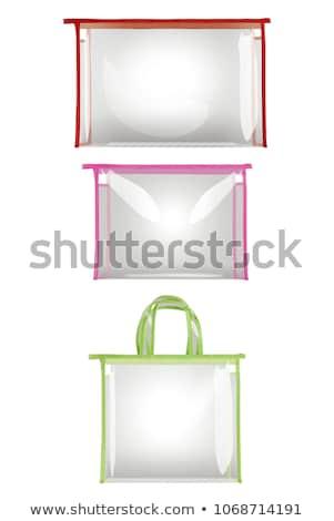 Kobiecy plastikowe trzy odizolowany biały działalności Zdjęcia stock © ABBPhoto