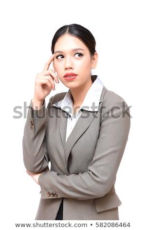 деловая женщина глядя серьезный портрет молодые стороны Сток-фото © williv