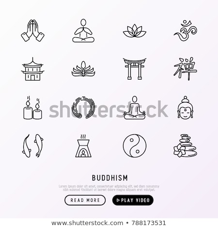 Vector icon buddhism Stock photo © zzve
