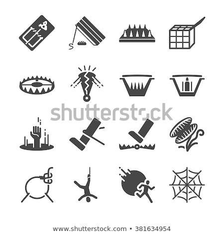 Icon val kaas gevaar illustratie Stockfoto © zzve