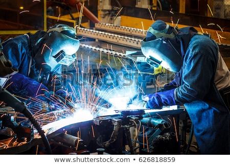 naval welder with protective mask welding metal  Stock photo © mady70