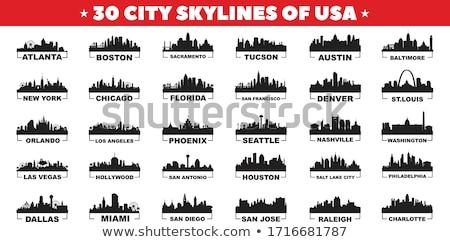 Orlando Florida horizonte ciudad silueta puesta de sol Foto stock © Yurkaimmortal