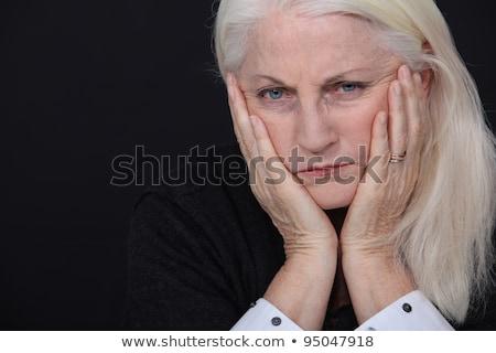 Staruszka strata strony twarz muzyka smutne Zdjęcia stock © photography33