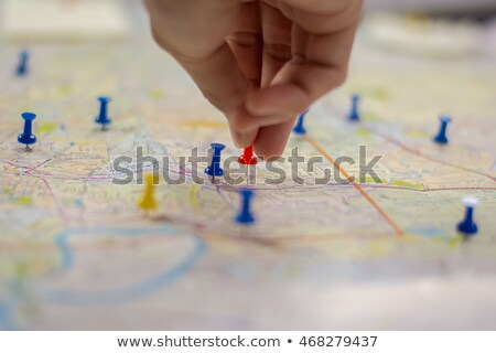 úticél · térkép · lökés · homály · mutat · utazási · célpontok - stock fotó © Anterovium