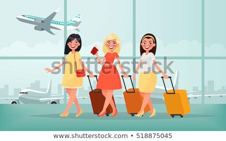Kadın bagaj arka plan güzellik boyama genç Stok fotoğraf © egrafika