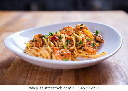 spaghetti and crustacean Stock photo © M-studio