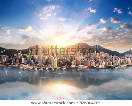 Hong Kong downtown at day in HDR Stock photo © kawing921