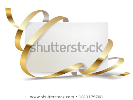 gift card with golden bow Stock photo © illustrart