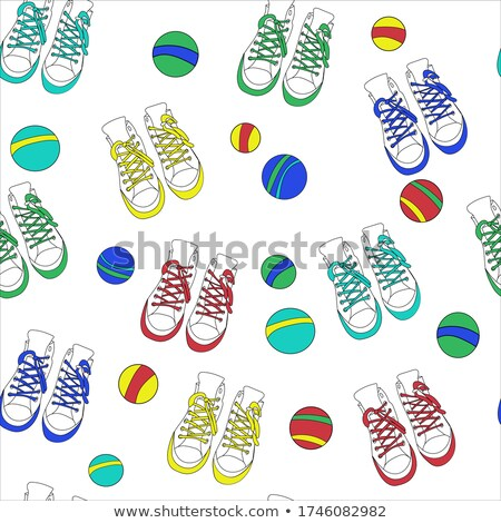 Baby sneakers on grunge paper Stock photo © stevanovicigor