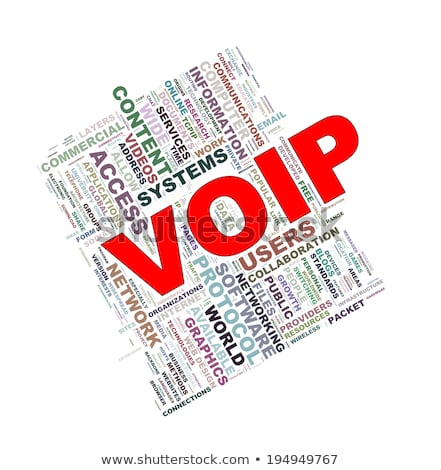VOIP. Wordcloud Concept. Stock photo © tashatuvango