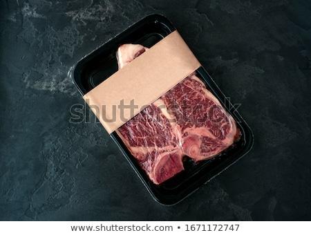 packaged t bone steak stock photo © kitch