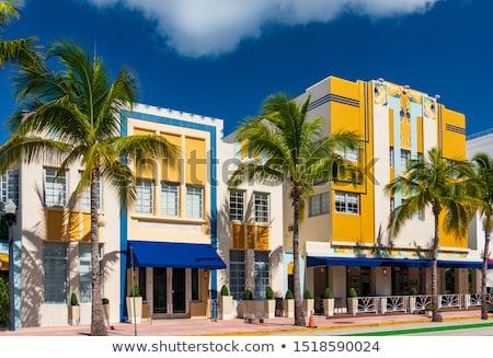 art · deco · arquitectura · Miami · cielo · árbol · calle - foto stock © meinzahn