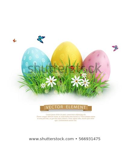 díszített · húsvéti · tojások · különböző · színek · lövés · köteg - stock fotó © nito