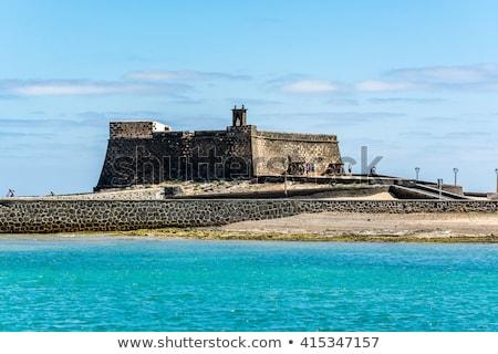 castle castillo de san gabriel in arrecife lanzarote canary is stock photo © meinzahn