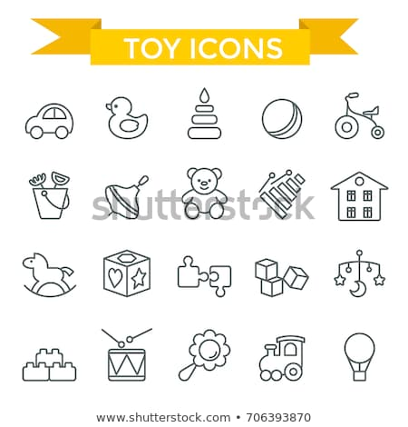 baby toys - icon set Stock photo © djdarkflower