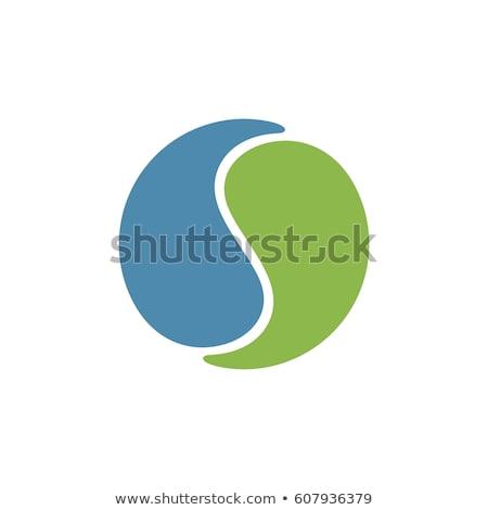 Logo concept with yin and yang symbol Stock photo © shawlinmohd