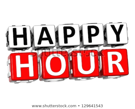 Happy Hours on Red Puzzle. Stock photo © tashatuvango