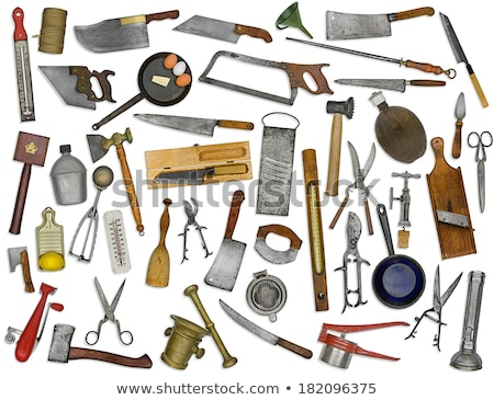vintage kitchen utensils collage stock photo © RedDaxLuma