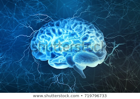 Foto stock: Cérebro · energia · cérebro · humano · cabos · ciência